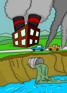 رسومات عن تلوث البيئة