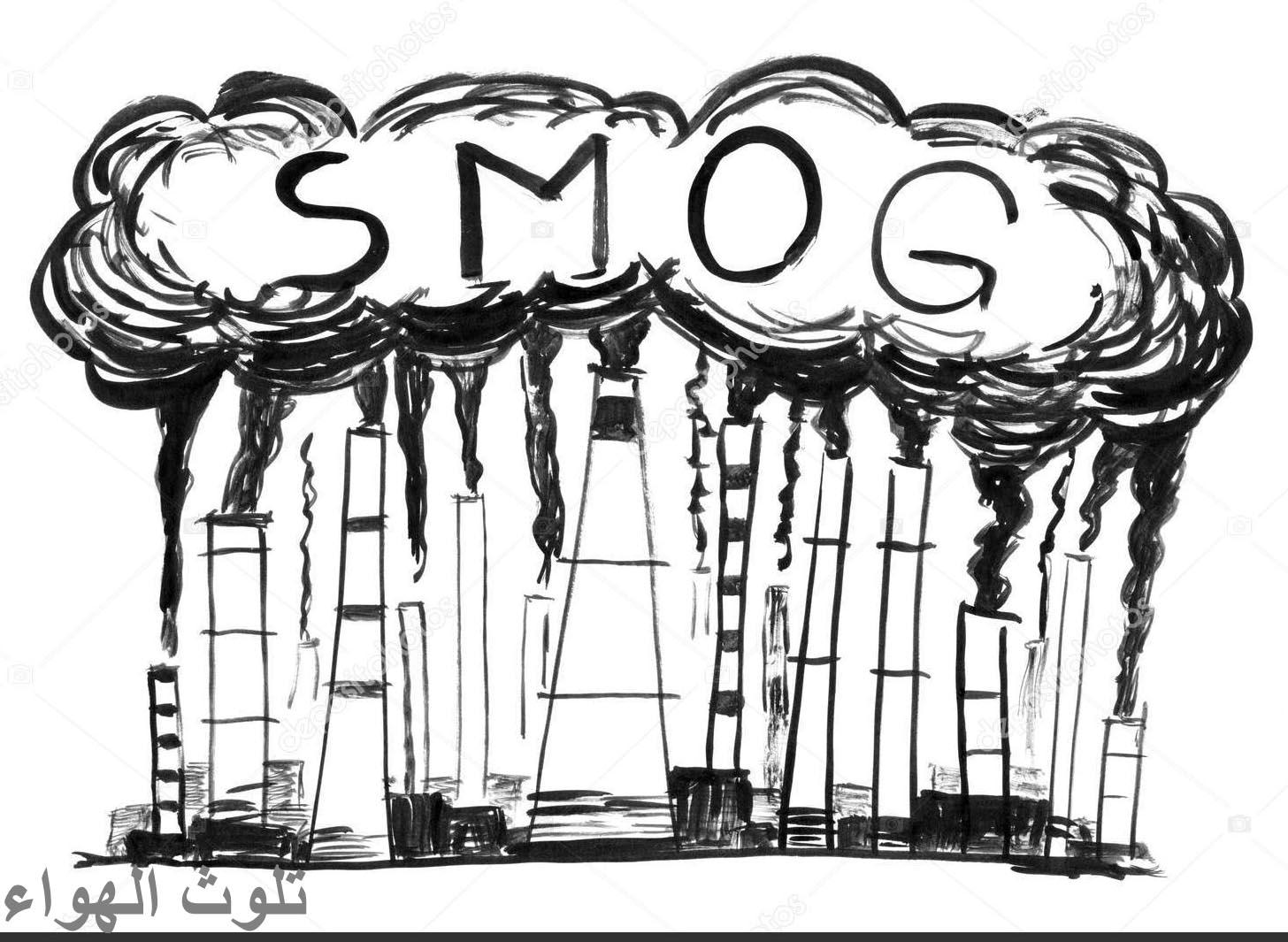 موضوع رسم عن التلوث البيئي بالقلم الرصاص سهل